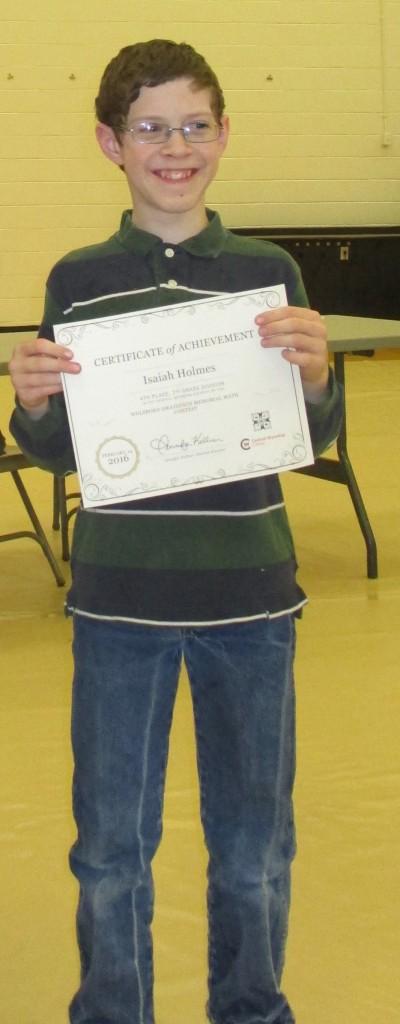 Isaiah Math Prize